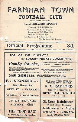 FARNHAM TOWN v POST OFFICE ENGINEERS. 1960's?