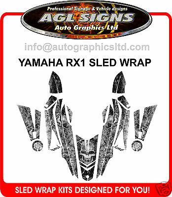YAMAHA RX1 SKULL SLED WRAP      DECAL  STICKER rx-1