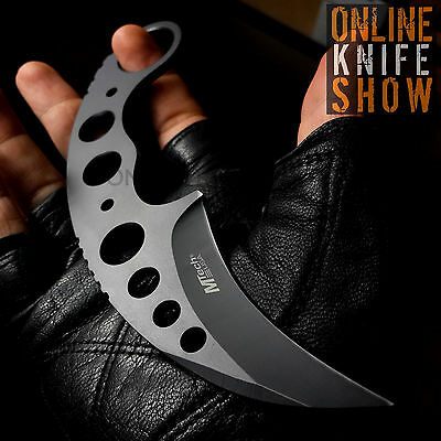 Straight Edge Razor Fixed Blade Black Cleaver TANTO Hunting Knife Karambit NEW