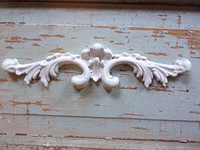 SHABBY n CHIC ARCHITECTURAL CREST * FURNITURE APPLIQUES * FLEXIBLE * PAINTABLE