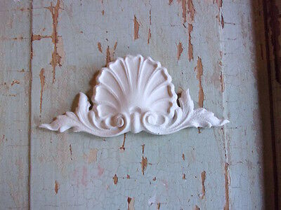 SHABBY n CHIC FURNITURE APPLIQUES * ARCHITECTURAL CREST * FLEXIBLE * PAINTABLE