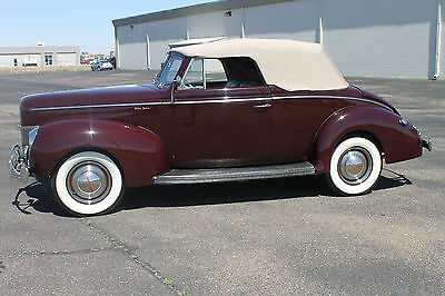 1940 Ford Other Deluxe 1940 Ford Convertible Frame Off Restored