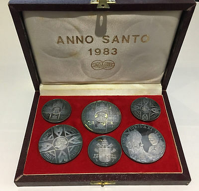 1983 Vatican Holy Year 6 Silver Medals Set with BOX - 3.785 ozt
