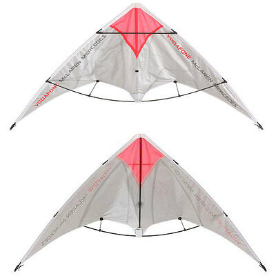 Vodafone Mclaren Mercedes Two Handled Stunt Kite rp£20 UK Next Day Delivery