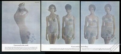 1962 Warner's lingerie Birthday Suit bra panty girdle 5 woman photo print ad