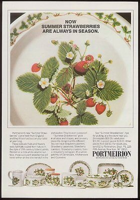 1982 Portmeirion Summer Strawberries china dishes photo vintage print ad