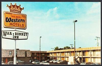 WAR BONNET INN MOTEL Miles City Montana Postcard 3402