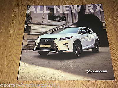 LEXUS - The New RX Sales Brochure 3/2016