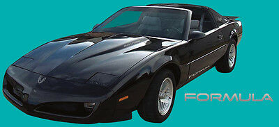 91-92 Firebird Formula 350 Decal Kit Dark Charcoal Gray Metallic