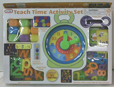 NEW Fun Time Educational Teach Time Alphabet and Numbers Activity Toy Set
