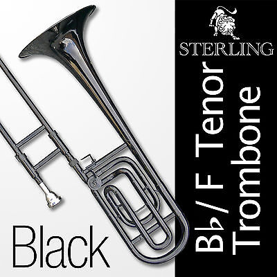 BLACK Bb/F Tenor TROMBONE • High Quality • Brand New with Case • Semi-Pro Level
