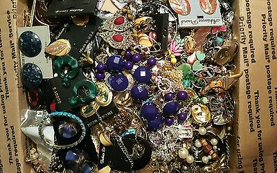 Lg FLAT RATE BOX over  25 lbs HARVEST CRAFTS REPAIR REFURBISH and WEAR Jewelry
