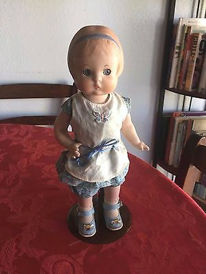 Adorable Full Body Porcelain Effanbee Patsy Doll , Re creation , 1990