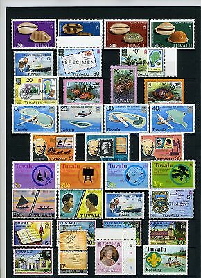 Tuvalu, small group of modern unmounted mint plus a few used