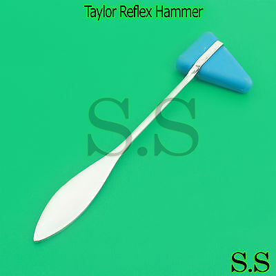 Blue Taylor Hammer Reflex Stainless Medical Surgical Percussion Tool