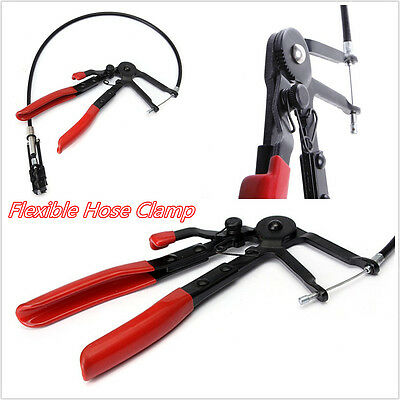 Black&Red Portable Car Truck Flexible Wire Hose Clamp Oil Water Pipe Reapir Tool