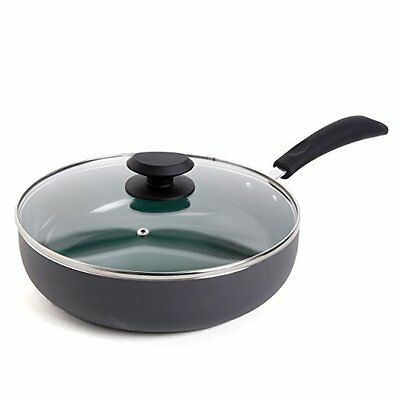 Gibson Home 92139.02 Hummington 3.5qt Ceramic Non-Stick Saute Pan w/ Lid Green