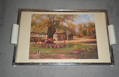 Foxhunting Scene Decoration Period Serving Tray (1940/50s?)
