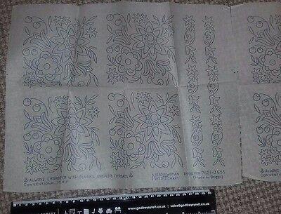 Pair of Vintage embroidery transfers - Needlecraft and Woman