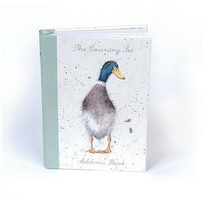 Wrendale Designs Country Set Address book duck & hare