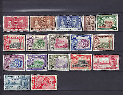 Dominica KGVI Mainly Mounted Mint Collection. SG 107 2s6d Used