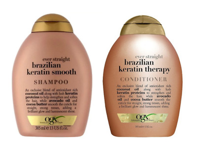 OGX Organix Duo Ever Straight Keratin Therapy 385ml Shampoo/385ml Conditioner