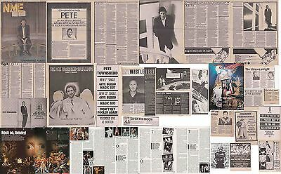 THE WHO : CUTTINGS COLLECTION -interviews adverts etc- 1980s