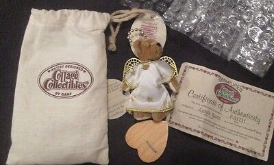 Ganz Cottage Collectibles Miniatures Faith Angel Bear With Certificate #cc7250