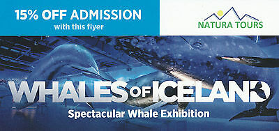 15% Off Admission  Whales Of Iceland Voucher