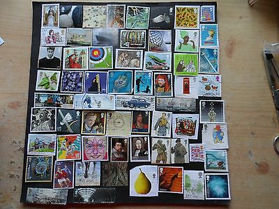 g.b.modern used commorative stamps  on & off paper space fillers  lot 1