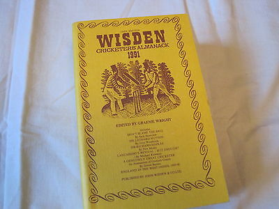WISDEN CRICKETERS` ALMANACK 1991 - 128th Edition - Cloth Cover