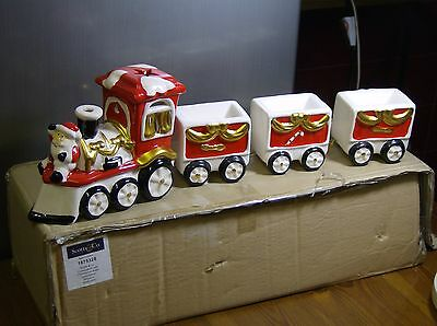 Father Christmas Ceramic/porcelain Train Set -  Boxed / New