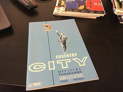 Coventry v Wolverampton Wanderers 2013-14 c/w Ticket