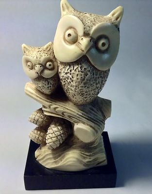 Owl Figurine by Wony From Italy Mother and Baby