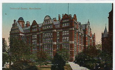 Old Postcard Technical School Manchester