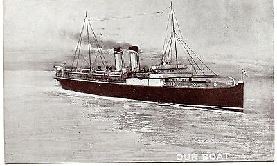"""Old Postcard - """"our Boat"""""""