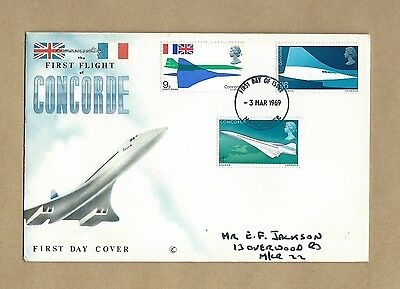 1969  Concorde First Flight  First Day Cover