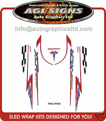 1996  POLARIS INDY XCR 440 SP HOOD DECALS , shroud  graphic