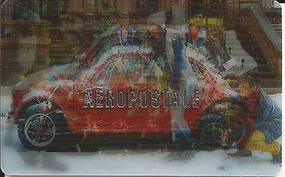 Lenticular Girl & Car Mint Gift Card From Aeropostale Canada Bilingual No Value