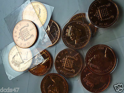 VARIOUS UNCIRCULATED 1p ONE PENCE COIN 1971 INC 1972 1993 COIN HUNT