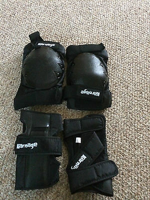 Protective knee and wrist pads skateboarding, roller blading