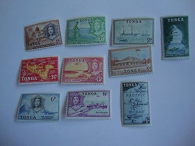 Tonga mint stamps 1953 short set to 1s SG 101-110
