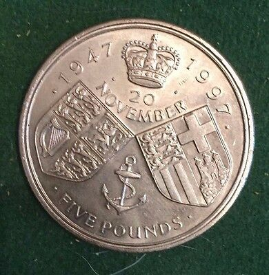 1947-1997 Five Pound coin