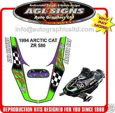 1994  ARCTIC CAT ZR 580 KIT, decal graphic REPRODUCTIONS