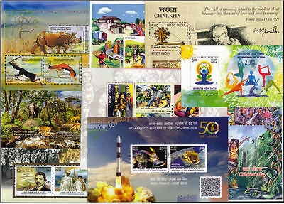 INDIA 2015 Complete Set of 9 Miniature Sheets MNH - Miniature YEAR PACK
