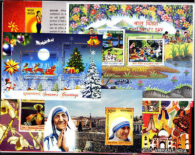 INDIA 2016 Complete Set of 17 Miniature Sheets MNH - Miniature YEAR PACK