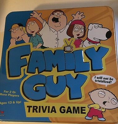 2005 FAMILY GUY TRIVIA GAME Complete With Instructions