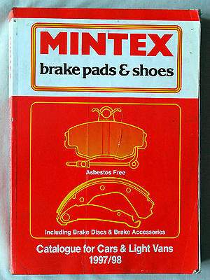MINTEX - Brake Pads & Shoes - Parts Ref: Book 1997 / 98 - Cars & Vans - Good