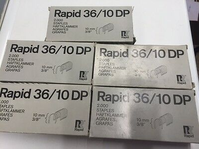 5 Boxes Of 2000, Rapid 36/10 Staples