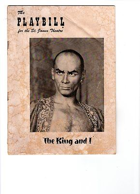 WoW! The Playbill for the St. James Theatre! The King And I! Week Dec.1, 1952!